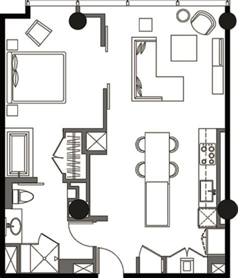veer towers floor plans one bedroom floor plan v1b 1 187 veer towers 187 citycenter
