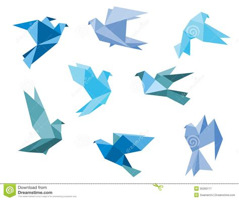 Pigeon Origami - paper pigeons and doves royalty free stock photography