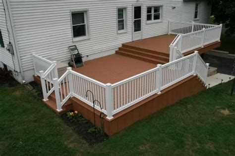 split level deck plans split level deck decks pinterest decks bi level homes and deck design