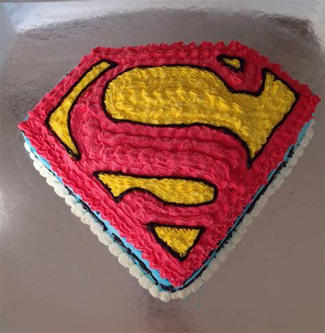 pin superman logo birthday cake by ohana designs cake on