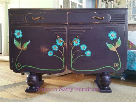 sideboard cabinet hand painted vintage shabby chic art