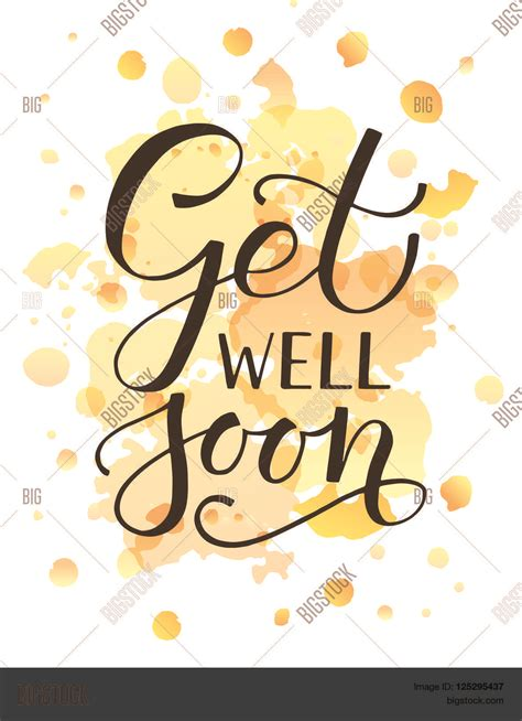 get well card template microsoft word sketched inspirational quote vector photo bigstock