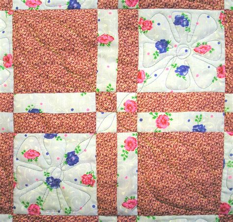 Patch Quilt by The Proficient Needle Finished Disappearing Four Patch Quilt