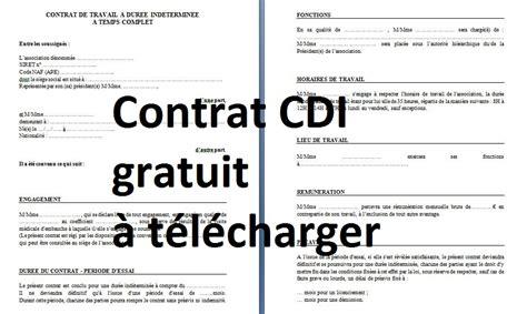 mod 232 le de contrat de travail cdi cours g 233 nie civil