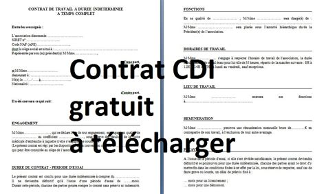 model contrat de travail cdi algerie sprookjesgrot
