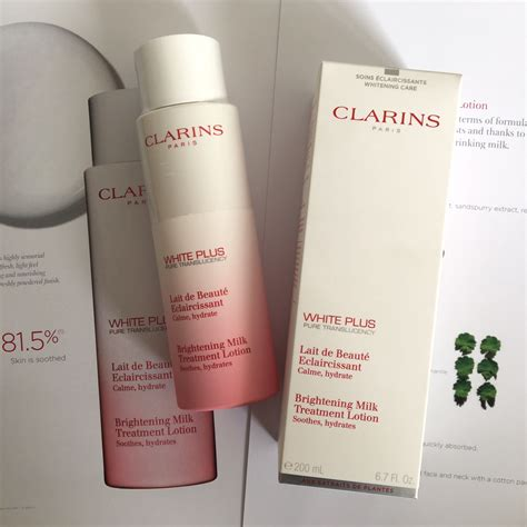 Lotion White Plus clarins white plus skincare range bellyrubz