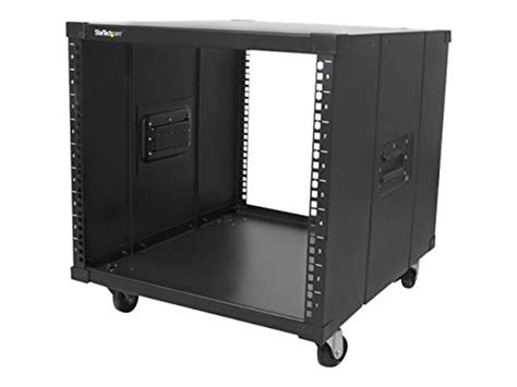startech portable server rack with handles rolling