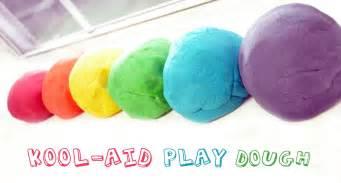 Running with glitter kool aid play dough