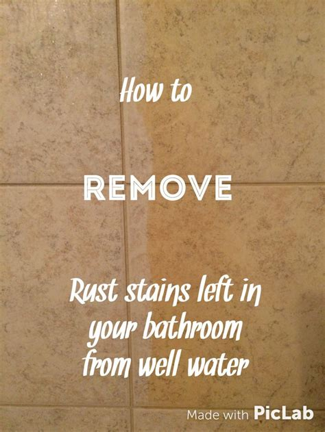 how to remove rust stains from bathroom tiles best 25 remove rust stains ideas on pinterest how to