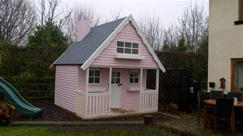 childrens playhouse on 2 levels timber log cabins