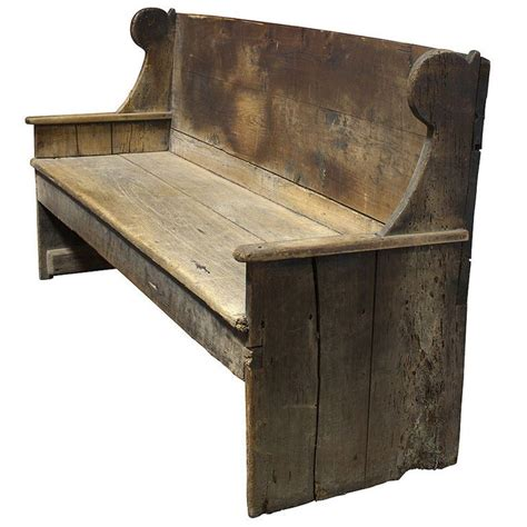 primitive wood bench primitive 18th century wood bench