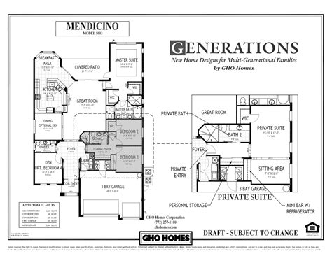 Home Design For Extended Family House Plans Multigenerational Studio Design Gallery