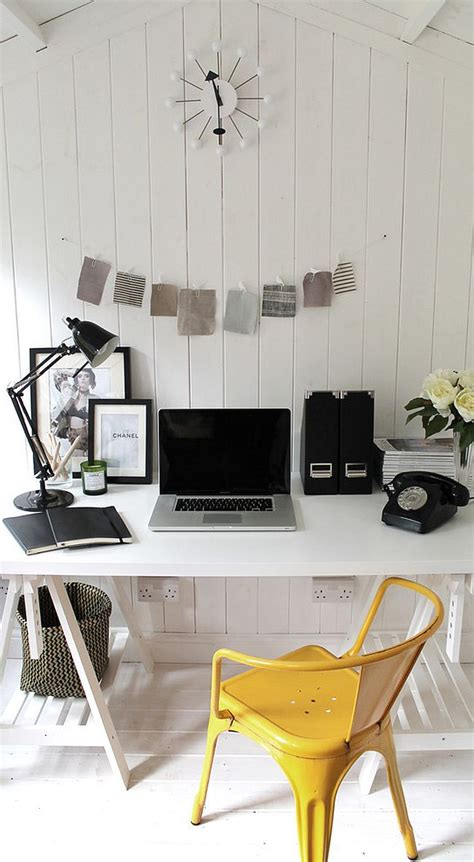black and white home 30 black and white home offices that leave you spellbound