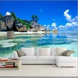 3d wallpaper mural beach stone sea view island wall paper background furniture ebay