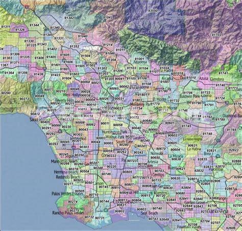 southern california zip code map los angeles zip codes los angeles county zip code
