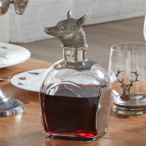 beautiful decanters for kitchens fine pewter fox design whisky decanter beautiful country
