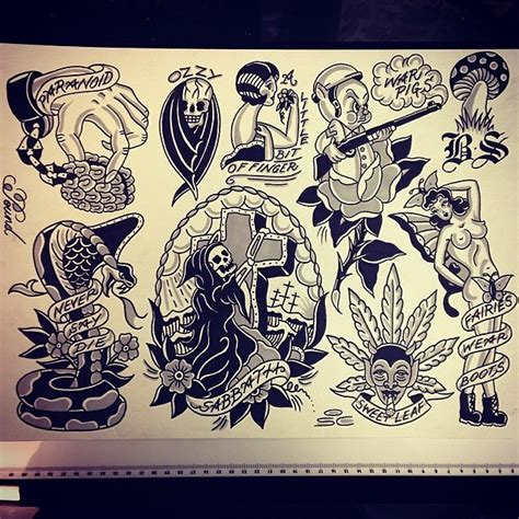 flash tattoo venda online original lee pound black sabbath flash osc tattoo