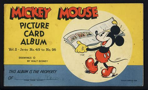 Returning Items Purchased With Gift Card - 1930s mickey mouse picture card album with 11 cards ebay
