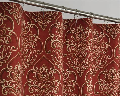 brick red curtains 84 long brick red damask shower curtain 72 x 84 long by
