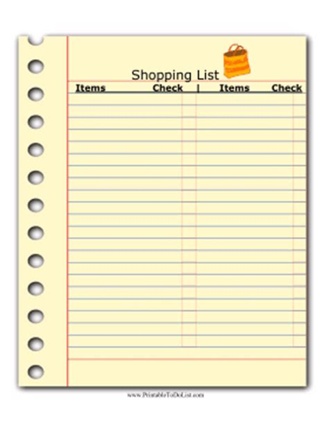 to buy list template shopping list