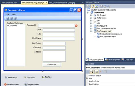 visual studio form design disappeared windows forms with vb using visual studio 2010 tutorial