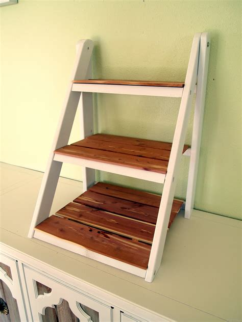 mini ladder shelf for serving organization reality
