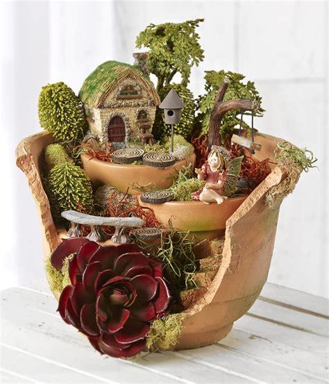 diy broken pots fairy gardens  art  life