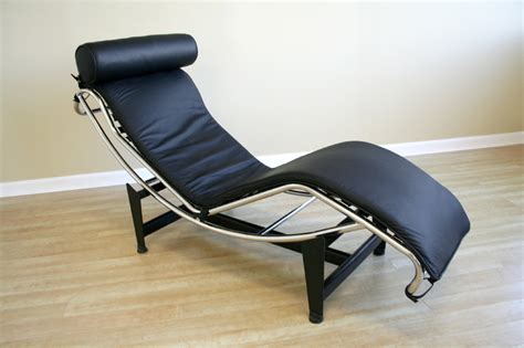 black leather chaise lounge chairs wholesale interiors le corbusier leather chaise lounge