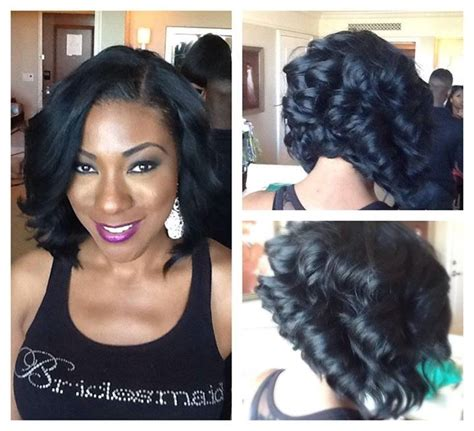 wedding bob hairstyles curly hair pics inr weave black women fine i need this haircut in my life stat my style