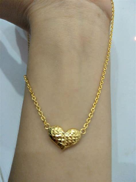 Kalung Emas Asli Tali Fancy jual kalung emas asli kadar 875 model fancy bulat di lapak