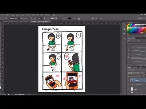 membuat watermark di photoshop cs6 membuat komik strip di adobe photoshop cs6 youtube