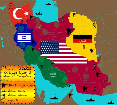 map or iran iran map of occupation 2023 by iasonkeltenkreuzler on