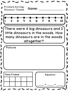 themed stories nz maths dinosaur theme addition subtraction word problems