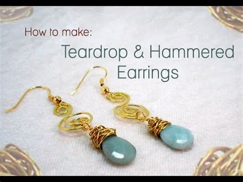 how to make hammered jewelry how to make teardrop hammered wire earrings