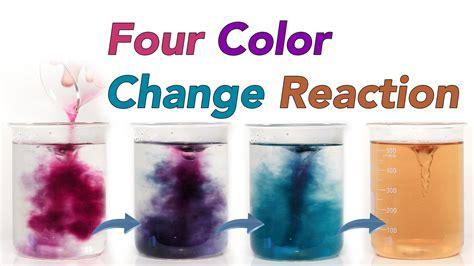 color changing four colour change reaction chameleon chemical reaction