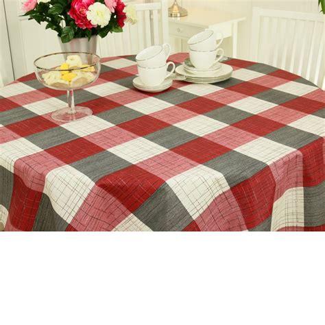 tischdecke rot abwaschbare tischdecken gestreift mit streifen oder karo