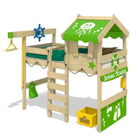 Kinderbett Hoch by Wickey Hochbett Kinderbett Jelly Spielbett