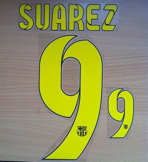 barcelona number luis suarez 9 barcelona home 2014 2015 name number set