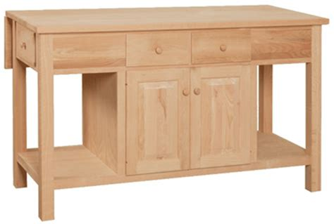 unfinished kitchen islands unfinished kitchen island w drop leaf unfinished furniture
