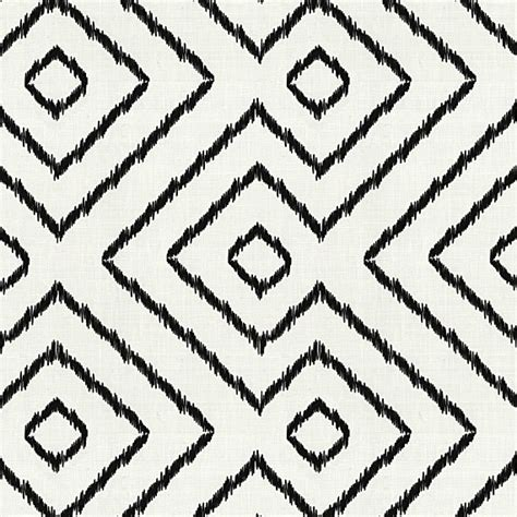 Black And White Upholstery Fabric by Black White Optical Linen Fabric Modern