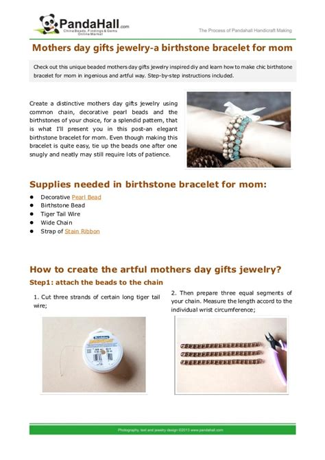 Mothers day gifts jewelry   a birthstone bracelet for mom