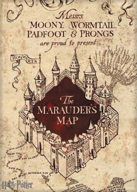 harry potter marauders map mar168822 harry potter marauders map canvas previews world