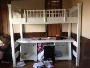 Pottery Barn Loft Bed With Desk by 600 Pottery Barn Loft Bed W Desk Storage Must Sell