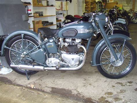 wayne s triumph motorcycles 1953 thunderbird blackbird now part of our collection
