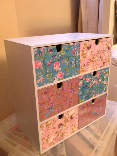 ikea craft paper makeup jewellery chest ikea drawers covered in decopatch