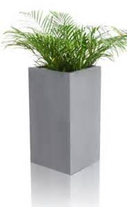 grey polystone cube planter small h60cm x 30cm 48