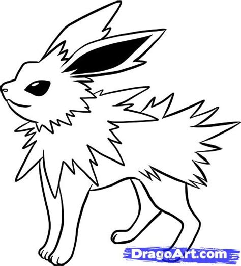 pokemon coloring pages jolteon jolteon colouring pages
