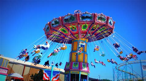 swing ride at fair wave swinger rides alameda county fair 2014 youtube