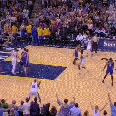 steph curry hits long  pointer  buzzer gifrific