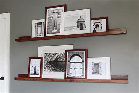 Wood Picture Ledge Shelf by Photo Ledges